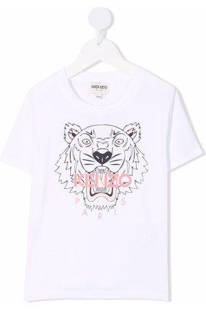 Kenzo Menina T-shirts & Manga Curta - Logo-print short-sleeve T-shirt