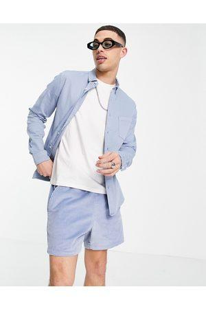 ASOS Homem Ganga - Slim denim shirt in blue