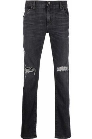 Dolce & Gabbana Homem Slim - Distressed slim-cut jeans
