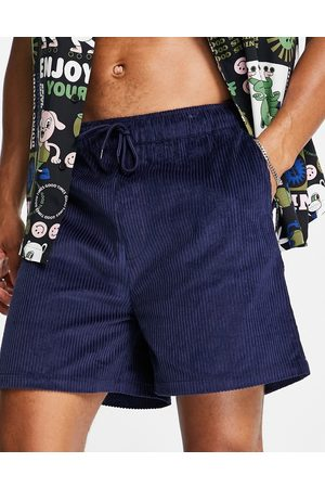 ASOS Wide shorts in navy cord