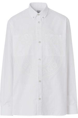 Burberry Homem Formal - Graphic-logo cotton shirt