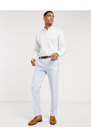 Topman Homem Calças Justas - Slim suit trouser in light blue