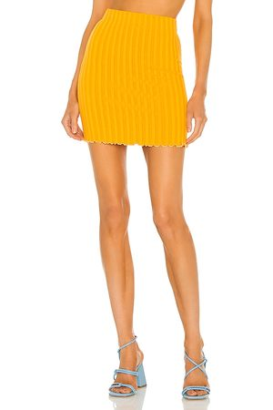 SIMON MILLER Bloop Skirt in - Orange. Size L (also in S, XS, M).