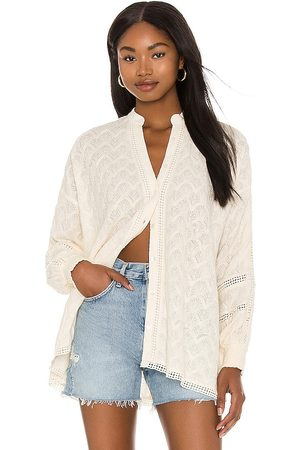 Show Me Your Mumu Journey Tunic in - Cream. Size L (also in S, XS, M).