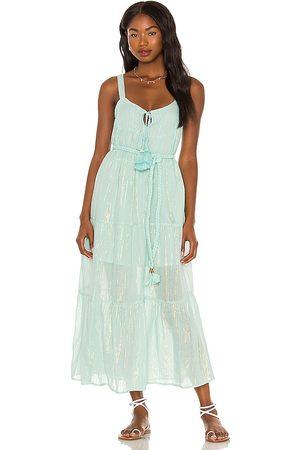 Karina Grimaldi Belle Maxi Dress in - Baby Blue. Size L (also in XS, M, S).