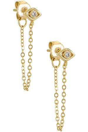 Shashi Senhora Brincos - Violet Chain Earrings in - Metallic . Size all.