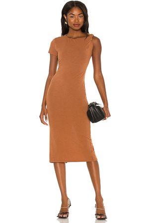 NBD Senhora Vestidos Midi - Branson Midi Dress in - Brown. Size L (also in XXS, XS, S, M, XL).