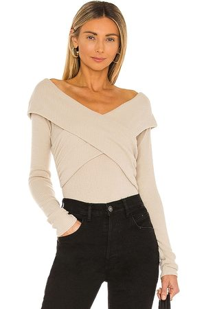 Free People Marley Top in - Grey. Size L (also in XS, S, M, XL).