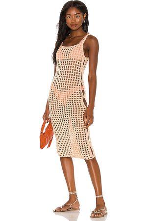 lovewave Senhora Vestidos Midi - The Coralee Midi Dress in - Peach. Size L (also in XS, S, M).