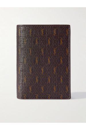 Saint Laurent Homem Bolsas & Carteiras - Leather-Trimmed Monogrammed Canvas Billfold Wallet