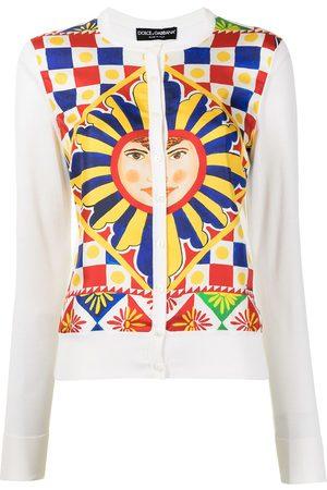 Dolce & Gabbana Senhora Camisolas - All-over print cardigan
