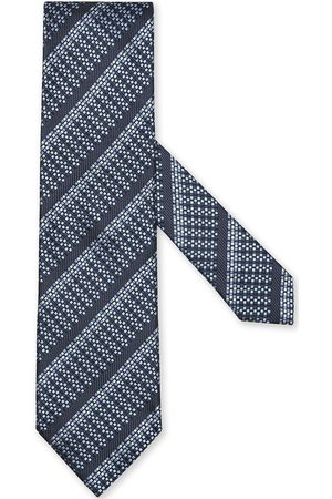 Ermenegildo Zegna Silk jacquard diagonal-stripe tie