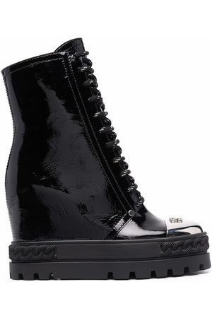 Casadei Wedge lace-up boots