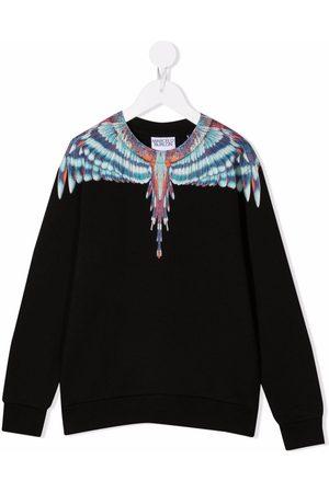 MARCELO BURLON Wings-print cotton sweatshirt