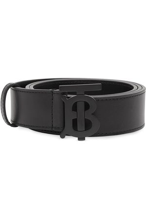 Burberry Monogram-buckle leather belt