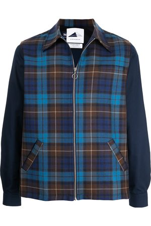 Anglozine Layne tartan-check shirt jacket