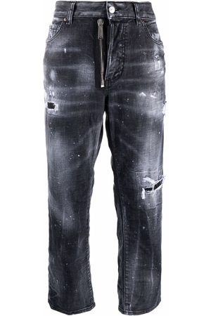 Dsquared2 Distressed cropped-leg jeans