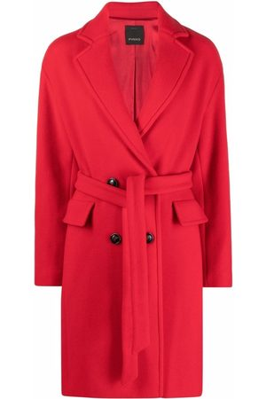 Pinko Double-breasted belted coat