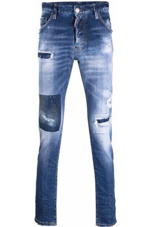 Dsquared2 Distressed mid-rise slim fit jeans