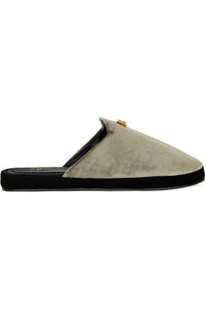 Giuseppe Zanotti Domitille velvet slippers
