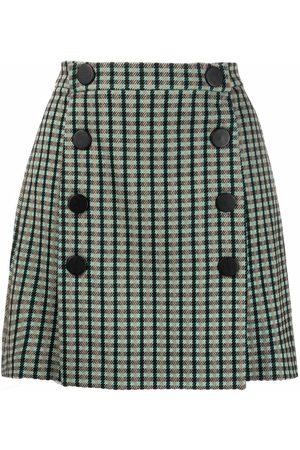 Pinko Senhora Saias Estampadas - Check-print mini skirt