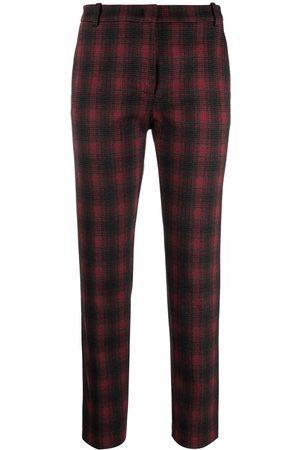 Pinko Check-print slim-cut trousers