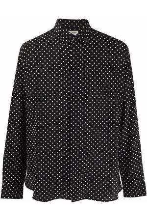 Saint Laurent Homem Formal - Polka dot silk shirt