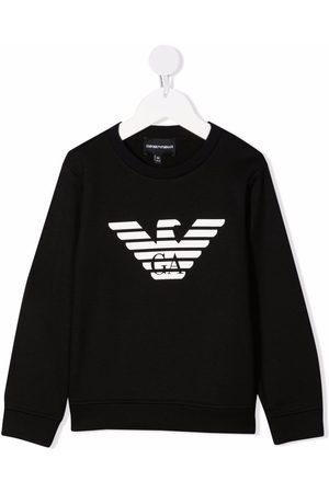 Emporio Armani Kids Menino Camisolas com capuz - Logo-print sweatshirt