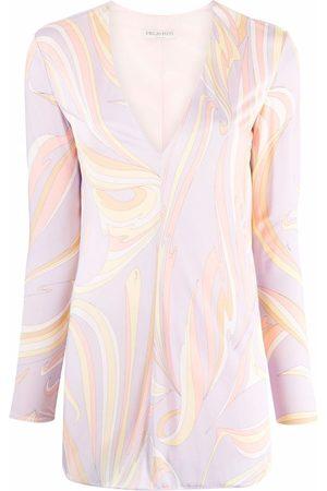 Emilio Pucci Vortici-print blouse