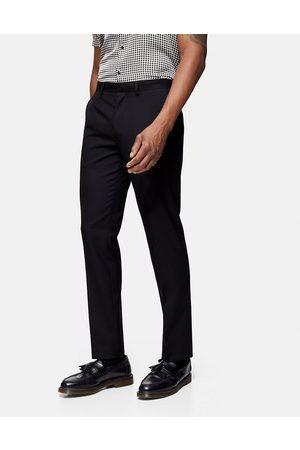 Topman Homem Calças Justas - Slim suit trouser in black