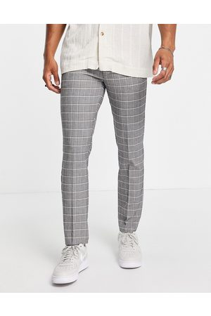 River Island Checked jogger in grey