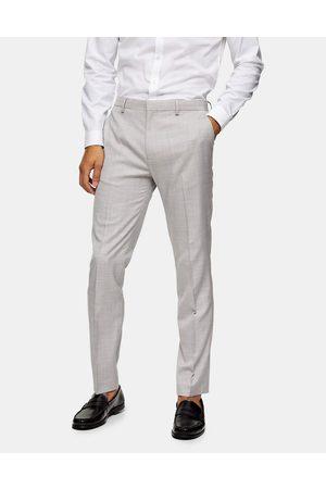 Topman Homem Calças Justas - Slim suit trouser in grey