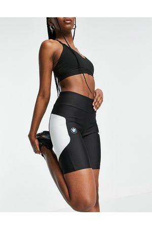 PUMA BMW MMS Street legging shorts in black