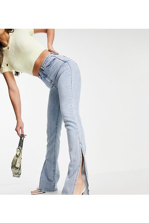 Missguided Tall Wrath jean with extreme split in blue