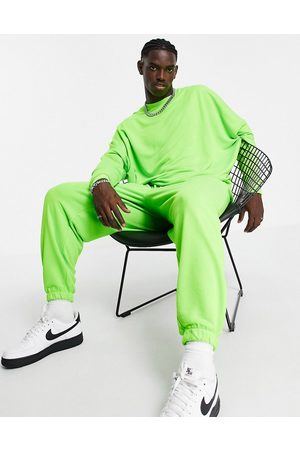 ASOS DESIGN Homem Joggers - Co-ord oversized joggers in green