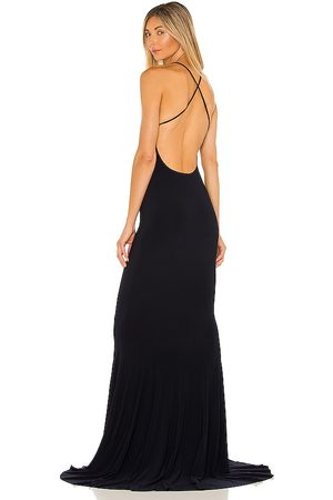 Norma Kamali X REVOLVE Low Back Slip Mermaid Fishtail Gown in - . Size L (also in XS, S, M).
