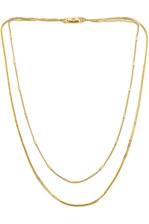 Jenny Surfside Duo Necklace in - Metallic . Size all.
