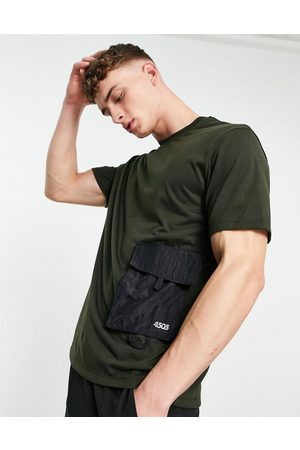 ASOS Easy fit training t-shirt with utility pocket-Grey