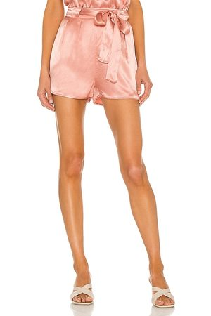 LBLC The Label Gabby Belted Short in - Blush. Size L (also in M, S, XS).