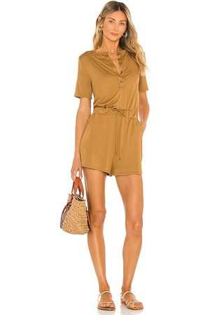 Lovers + Friends Anderson Romper in - Brown. Size L (also in M, S, XS).