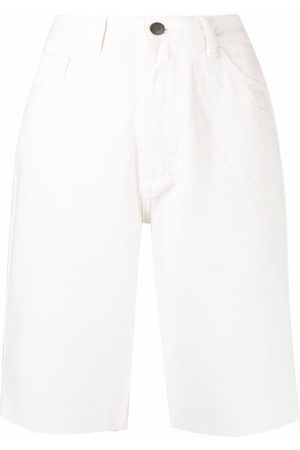 12 STOREEZ Raw-hem denim shorts
