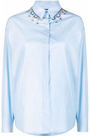 Pinko Senhora Camisas - Crystal-embellished shirt