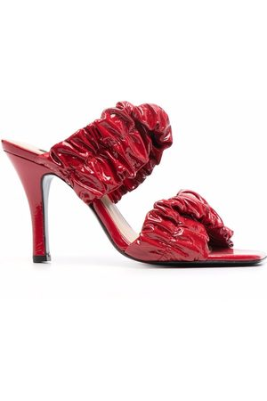 Pinko Gathered-leather sandals
