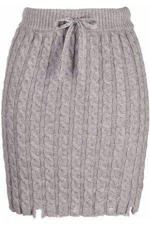 Pinko Cable-knit mini skirt