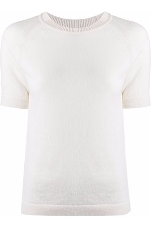 Barrie Short-sleeve cashmere top