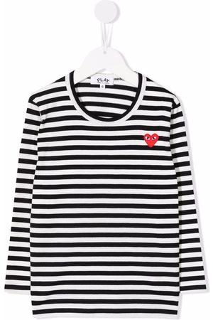 Comme Des Garçons Play Kids Striped long-sleeved T-shirt