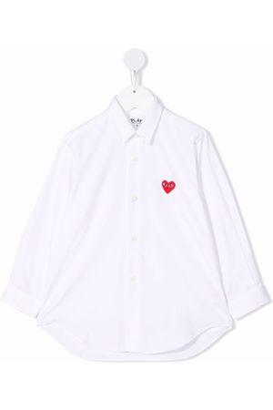 Comme Des Garçons Play Kids Menina Camisas - Heart-detail button-up shirt