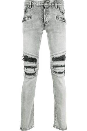 Balmain Distressed-finish denim jeans