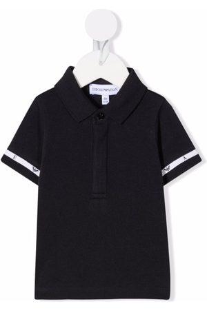 Emporio Armani Bebé Pólos - Logo-tape cotton polo shirt