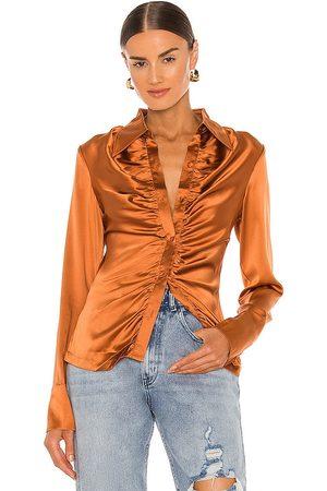 KIM SHUI Silk Shirt in - Metallic . Size L (also in M, S, XS).